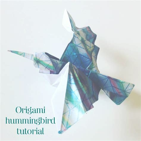 Origami Hummingbird - the paperdashery or how to send happiness