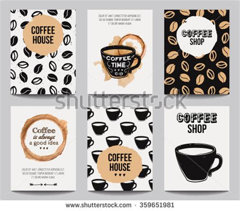trendy coffee shop checked vector background http www welovesolo vector set of modern posters with coffee backgrounds