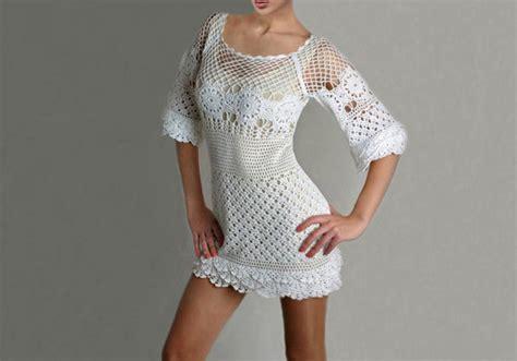 Hq 3712 Pattern Dress White crochet dress pattern trendy cocktail by