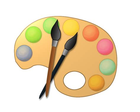 free clipart free to use domain paint palette clip