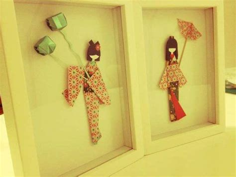 imagenes manualidades japonesas cuadros con mu 241 ecas japonesas de papel origami decoraci 243 n