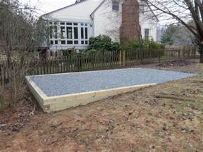 ideas plan knowing garden shed foundation gravel