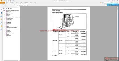 toyota 7 series forklift manual toyota forklift 7 series workshop manual auto repair