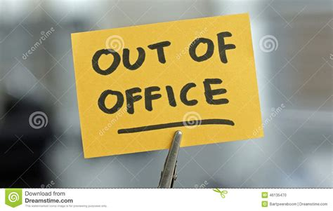 Out Of The by Out Of Office Stock Photo Image 46135470
