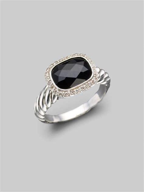 david yurman black onyx sterling silver ring in