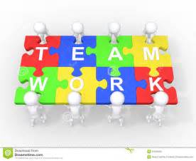 Concept of teamwork leadership cooperation stock photo image