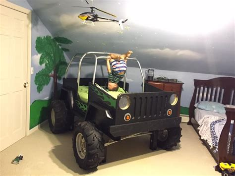 jeep bed boys jeep bed made from the shipping crate from a