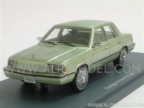 neo dodge aries k car 1983 light green metallic 1 43