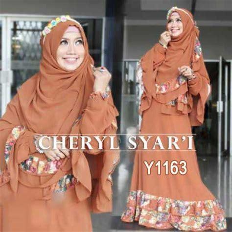 Promo Jilbab Motif Katun Silky 06 baju gamis bergo cheryl syar i y1163 busana muslim cantik