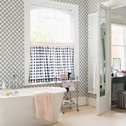 Cafe Curtains For Bathroom Chic Monochrome Bathroom Bathroom Decorating Ideas Housetohome Co Uk