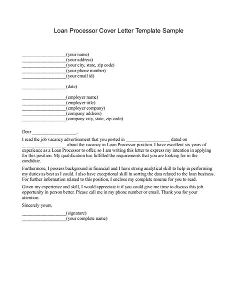 Term Loan Renewal Letter Format Free Printable Loan Template Form Generic