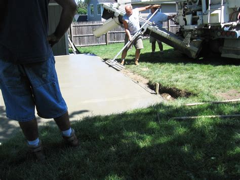 Ready Mix Patio Grout by Concrete Patio Any Size Shape Form Color Or Texture