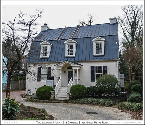 dutch colonial roof annapolis maryland blog photograph two ladders atop an