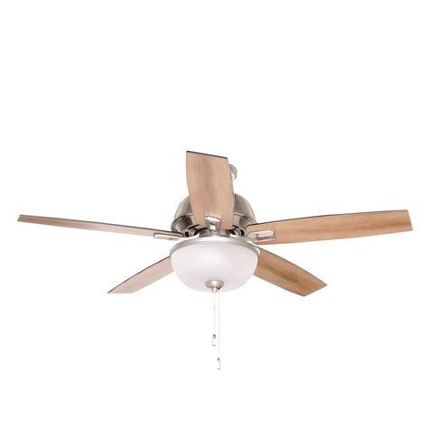 home depot fans indoor hunter donegan 52 in led indoor brushed nickel ceiling