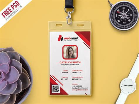 Identity Card Template Psd Free by Free Photo Identity Card Psd Template Psdfreebies