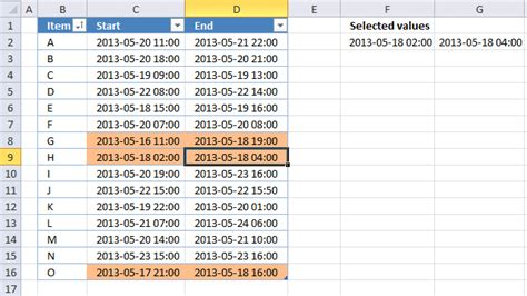 date format z at the end highlight date ranges overlapping selected record vba