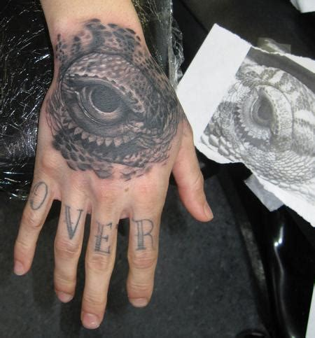 bearded dragon tattoo bearded eye by jeff mansolf tattoonow