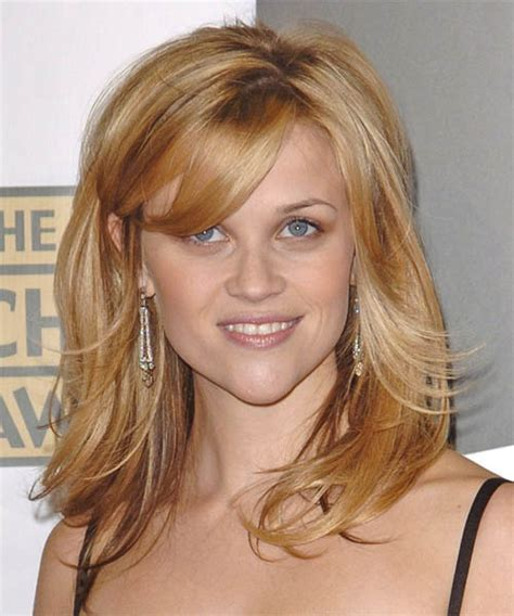 Reese Witherspoon Long Straight Formal Hairstyle with Side