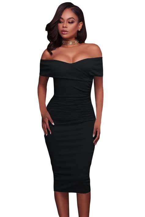 Midi Dress Gaun Bodycon Blue Two Pcs Xl 192303 Import Sale black ruched shoulder bodycon midi dress wholesale