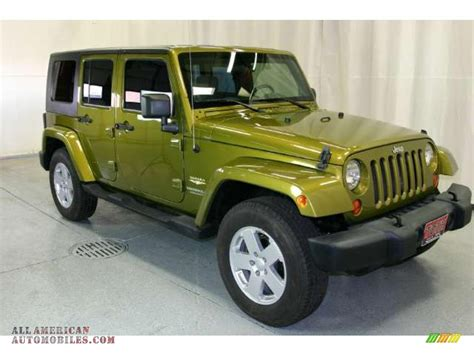 jeep sahara green 2007 jeep wrangler unlimited sahara 4x4 in rescue green
