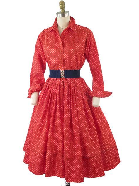 60s white polka dot shirtwaist dress 1960s vintage