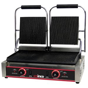 Winco EPG 2 Double Electric Panini Grill Panini   Hot Dogs