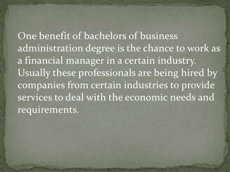 Benefits Of Mba Degree To A Company by Benefits Of Bachelor Degree In Business Administration