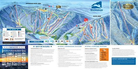 virginia resort area map snowshoe mountain resort piste map plan of ski slopes