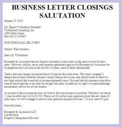 closing salutation for business letter the best letter