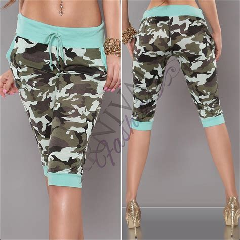 Hotpants Hotpant Army new camo crop 3 4 army