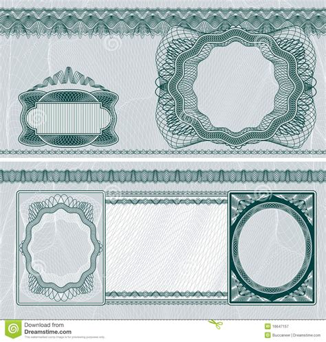 bank note template blank banknote layout stock vector illustration of