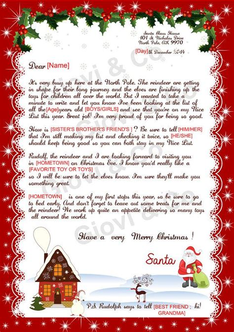 Response Letter From Santa 17 Best Ideas About Letter From Santa On A Letter Traditions And