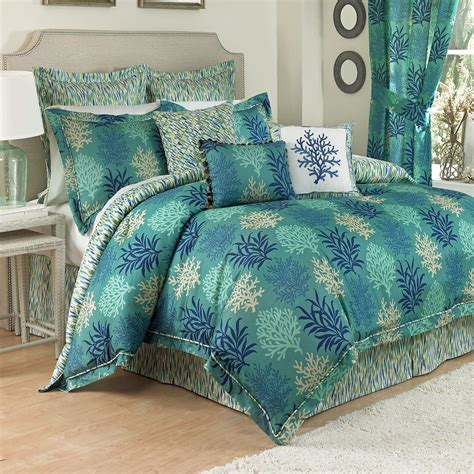 beach themed bedding sets breezy atmosphere in bedroom with 3 coastal bedding