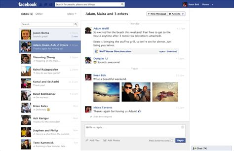 facebook messages a rundown of its new look pcworld