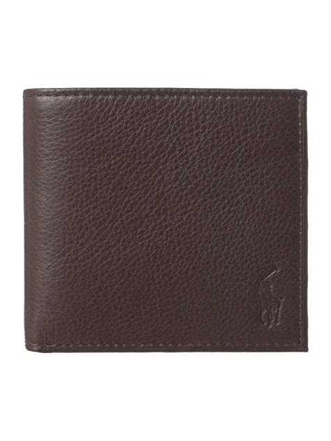 Polo Wallet For polo ralph billfold wallet in brown for lyst