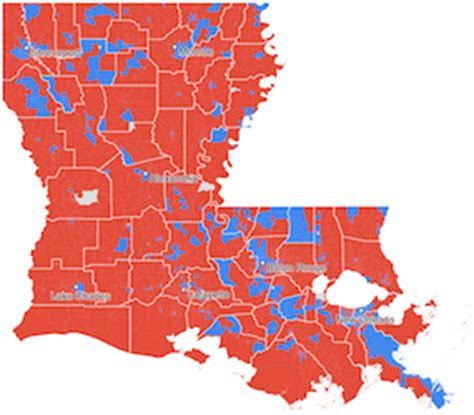 louisiana election map by parish louisiana and new orleans election results