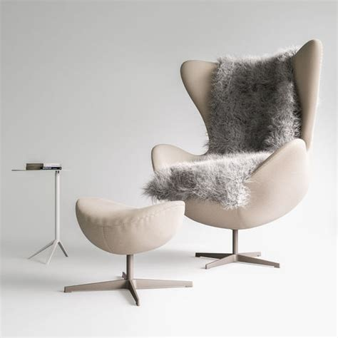 Fritz Hansen Egg Chair by Fritz Hansen Egg Chair Set 3d Cgtrader