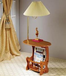 End Tables With Built In Ls Wood End Table With Built In L House Design