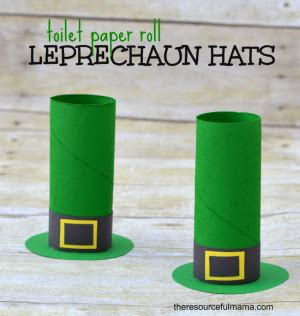 Leprechaun Toilet Paper Roll Craft - toilet paper roll leprechaun hat craft the resourceful