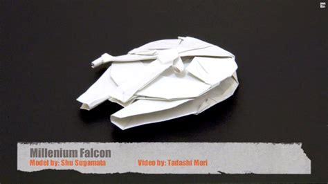 Origami Millennium Falcon - millennium falcon dollar origami comot