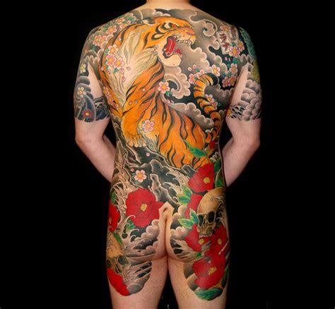 japanese bodysuit tattoo designs japanese tiger backpiece bodysuit artist unknown