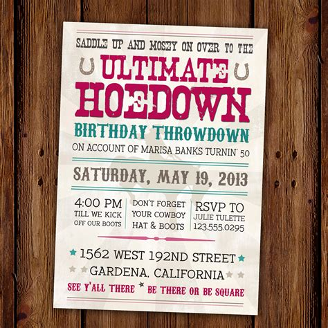 country invitation templates 11 beautiful and unique looking western birthday