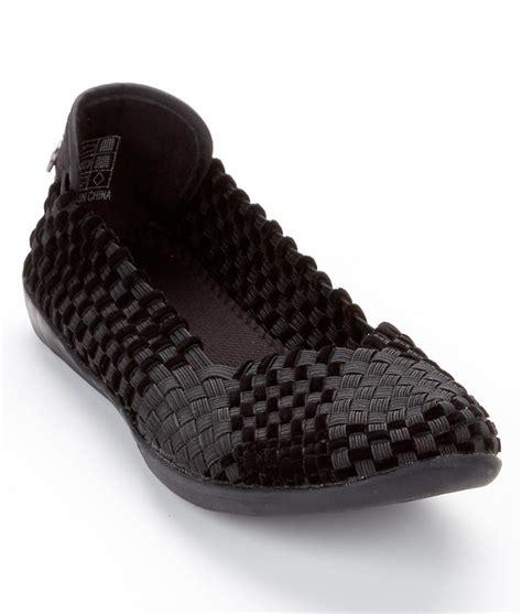 stretch flats shoes bernie mev catwalk velvet woven stretch flats shoes s