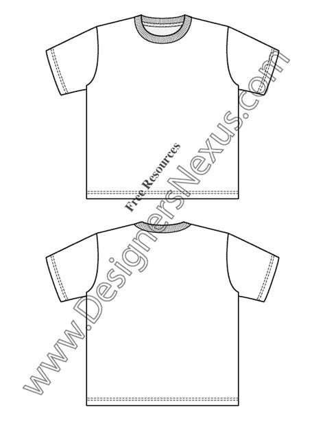 illustrator template artist sketch cards v28 childrens t shirt template flat fashion sketch