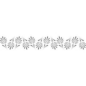 d 233 coration murale frise quot fleurs ii quot heure de colle