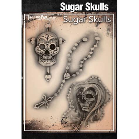 airbrush tattoo stencils airbrush pro stencil sugar skulls