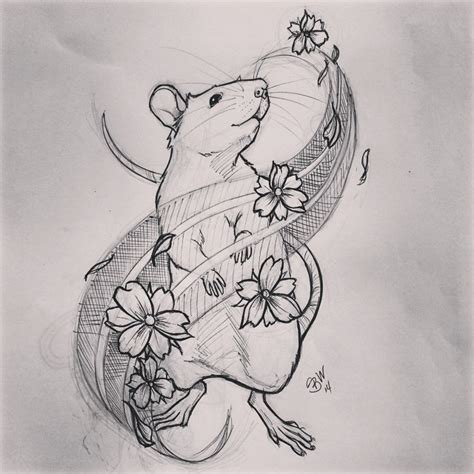 rat tattoo designs shop doodle anyone like this for a in south jersey
