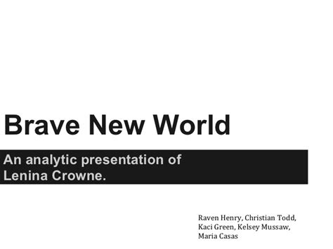 different themes in brave new world brave new world lenina crowne