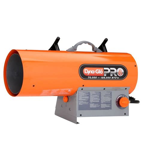 forced air gas heaters dyna glo pro 125k btu forced air lp gas portable heater