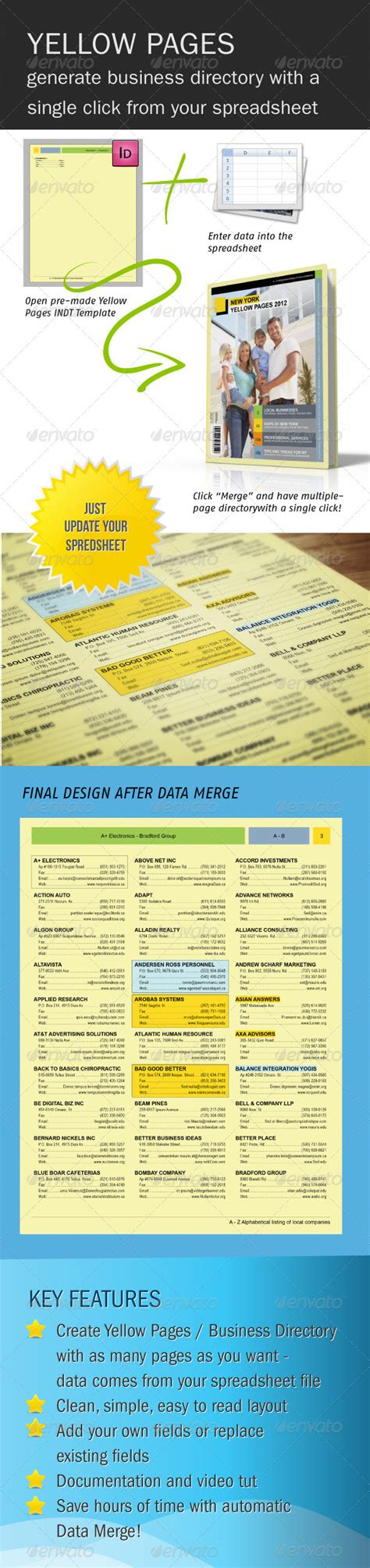 Download The Template Directory A5 Psd 187 Maydesk Com Yellow Pages Template